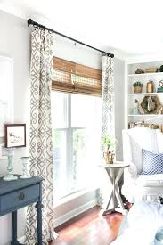 Curtains On Patio Curtains On Windows With Blinds Glorious Bay Window Decorating