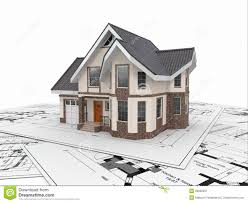 housing blueprints residential house on architect blueprints housing project stock
