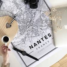 Nantes France Map by Nantes Customizable Map Poster Maps Posters Print And Nantes