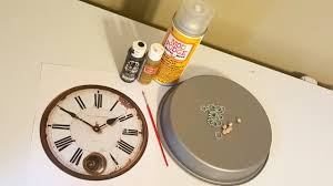 diy vintage steampunk inspired home clock wall decor surviving a