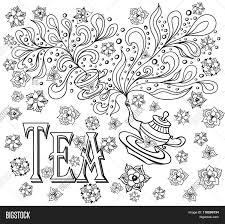 background cup teapot flowers vector u0026 photo bigstock