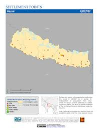 Map Of Nepal India by Maps Settlement Points V1 Sedac