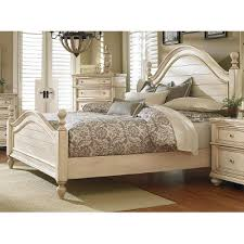 antique white queen size bed heritage rc willey furniture store