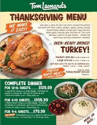 order thanksgiving dinners here tom leonard s farmer s market