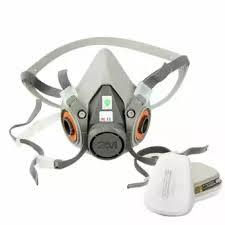 Masker Gas set 7 pcs respirator lukisan penyemprotan wajah masker gas 5n11
