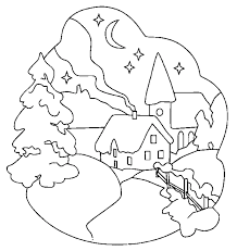 Winter Scene Coloring Pages Coloring Pages Coloring Pages For High