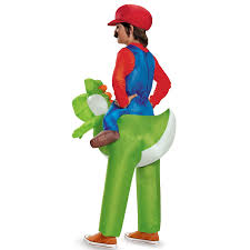 Halloween Inflatables Videos by Super Mario Bros Ride A Yoshi Inflatable Child Costume