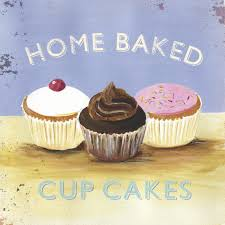 cupcake home decor kitchen this vintage style metal u201chome baked cupcakes u201d wall art will set a