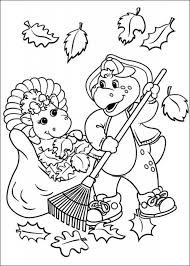 coloring pages barney friends kids 36719