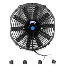 electric radiator fans amazon com 12 inch high performance black electric radiator
