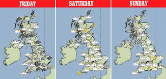 uk weather forecast predicts hail lightning arrive and snow is on