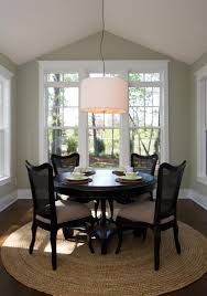 Small Round Dining Room Table Benjamin Moore Prescott Green Dining Room With Drum Chandelier
