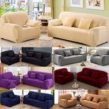 canapé couleur moderne pur couleur de mode élastique canapé couvre pour salon