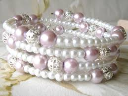 glass pearl bracelet images Pretty pale lilac white glass pearl beads memory wire bracelet jpg