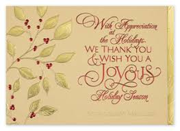 Holiday Business Cards Holiday Cards Thank You For Your Business