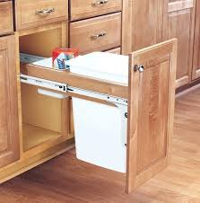 trash cans for kitchen cabinets trash cans for kitchen for wood classics pull out waste container 29