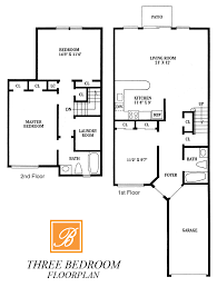 two bedroom and three bedroom apartment floorplans