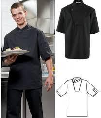 veste de cuisine noir veste de cuisine manches courtes boutons pression