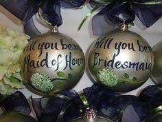 hand painted bridesmaid ornaments bridesmaid gifs pick your