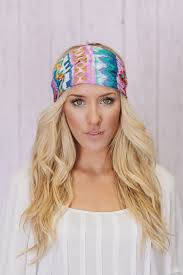 boho headband aztec boho headband in lavendar and teal 22 95 http www