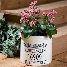 personalized name u0026 address planter pot dogwood at wireless