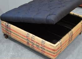 coffee sack coffee table storage ottoman 6 steps with pictures