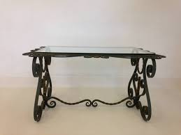 wrought iron end tables vintage french wrought iron coffee table for sale at pamono