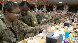 thanksgiving photo effects a meal that feels like home for ft jackson soldiers wltx com