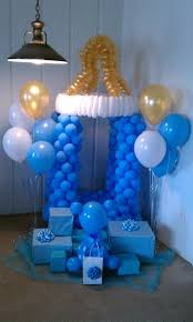 blue baby shower 23 balloon decorations for baby showers shelterness