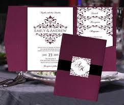 regency wedding invitations pocket fold wedding invitation templates merlot burgundy wine