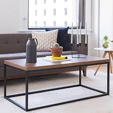 amazon com solid wood coffee table modern industrial space