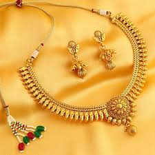 gold necklace jewellery images Buy necklace sets online temple jewellery gold plated neckace jpg