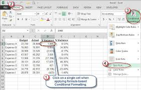 percentage calculator excel microsoft excel use color to identify variances accountingweb
