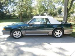mustang 1991 for sale buy used 1991 ford mustang gt convertible 5 0 emerald green