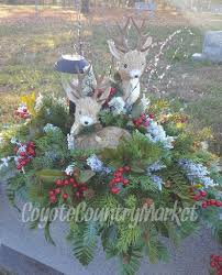 headstone decorations reserved for shay winter headstone saddle vases grave decoration