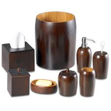 Bamboo Bathroom Accessories by Taiwan Gourd Bamboo Bathroom Set Includes Toothbrush Holder