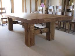 rustic solid wood dining table popular of oak furniture dining table oak beam h base dining table