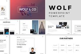keynote themes compatible with powerpoint wolf minimal powerpoint template presentation templates creative