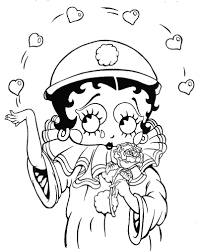 free coloring betty boop pages printable coloring pages