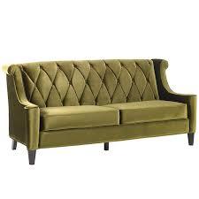 Grey Velvet Chesterfield Sofa by Amazon Com Armen Living Lc8443green Barrister Sofa In Green