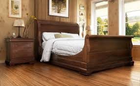 Sleigh Bed King Size Bedroom Wooden King Size Sleigh Bed Antique Design And Glass