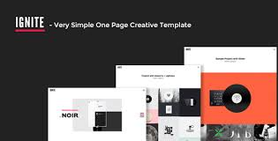 ignite very simple one page creative template by designova
