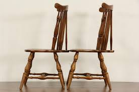 Maple Dining Room Chairs Sold Heywood Wakefield Signed Set Of 8 Windsor Vintage Maple