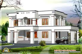 stylish flat roof home design kerala building plans online 36720
