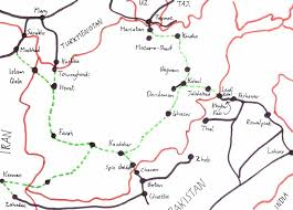 kabul map map of railway proposals railways of afghanistan