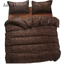 Leopard Bed Set Janeyu 2018 Bedding Set King Size Duvet Cover Leopard