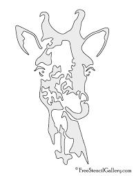 giraffe 01 stencil free stencil gallery