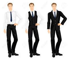 vector illustration of corporate dress code young man in formal