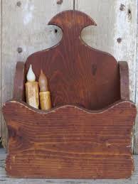 antique wood candle box primitive pa folk rustic