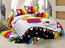 Mickey Mouse Bed Sets 100 Cotton Bedding Set King Size Mickey Mouse Comforter